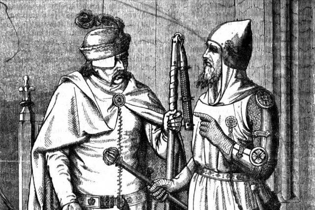 Jan Žižka z Trocnova (vlevo)