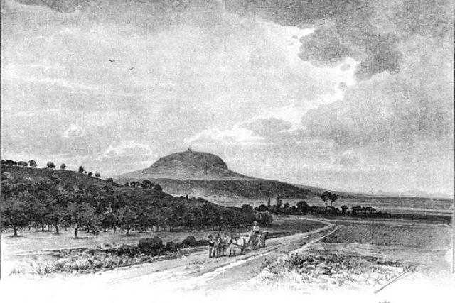 Karel Liebscher: Hora Říp od východu