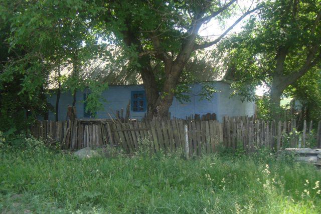 Typická ukrajinská chalupa na vesnici, Volyně