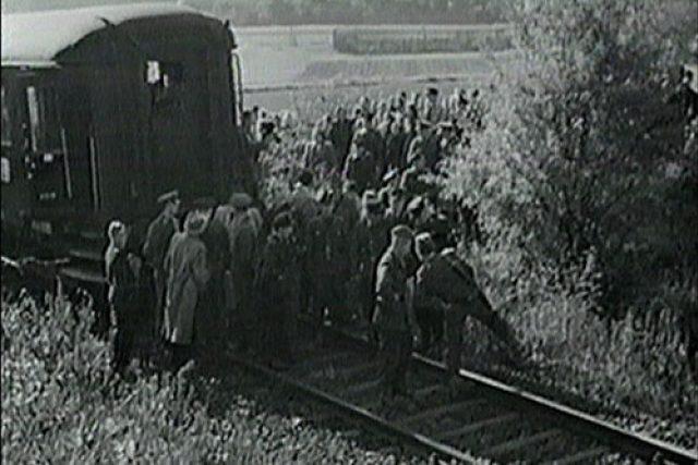 """""""Vlak svobody"""" na archovním snímku z roku 1951"""