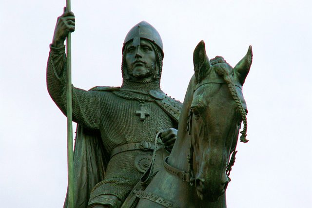 Svatý Václav. Socha Josefa Václava Myslbeka