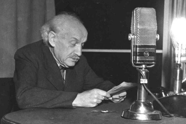 Zdeněk Nejedlý-hovořící