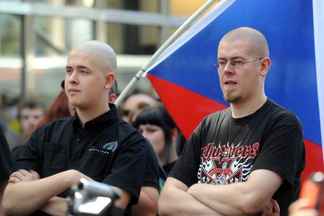 Extremisté se sešli na pražském Můstku