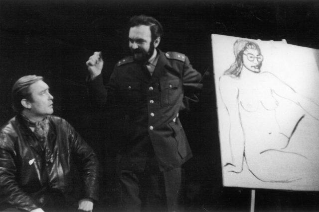 Oldřich Unger a Zdeněk Svěrák v představení Divadla Járy Cimrmana