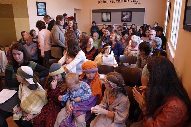 Ve sboru Bratrské jednoty baptistů v Praze Na Topolce   foto:  Baptistický sbor Na Topolce