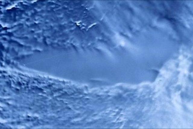 Satelitní snímek jezera Vostok