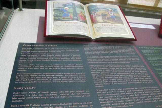 Život svatého Václava mistra Matyáše Hutského z Křivoklátu  (faksimile) | foto: Adriana Krobová