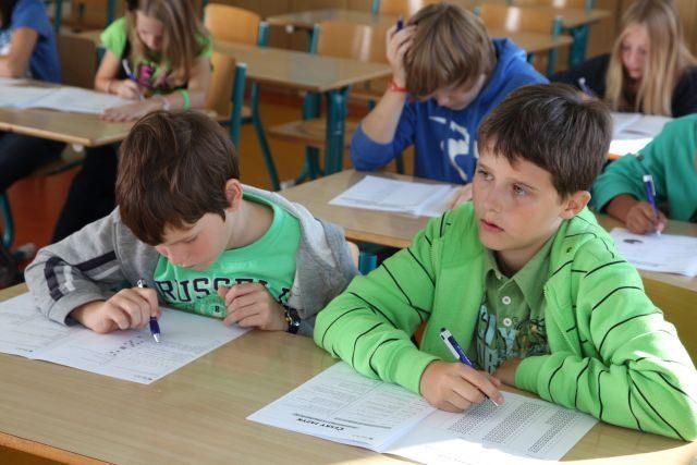 Žáci základních škol mohou prověřit své znalosti ve srovnávacích zkouškách