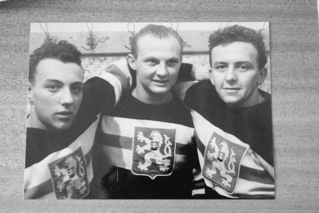 Členové čs. hokejové reprezentace na počátku 50 let