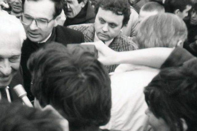Tomáš Baťa junior po návratu do vlasti v prosinci 1989