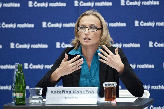 Předvolební speciál Martina Veselovského na téma EU, Kateřina Konečná