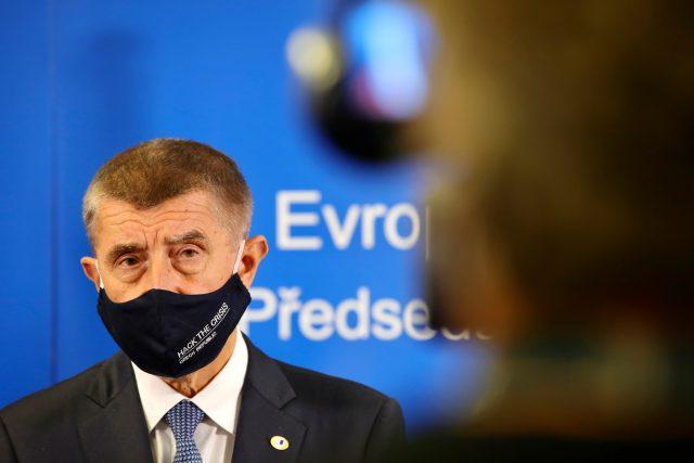Premiér Andrej Babiš (ANO) po jednání Evropské rady o rozpočtu