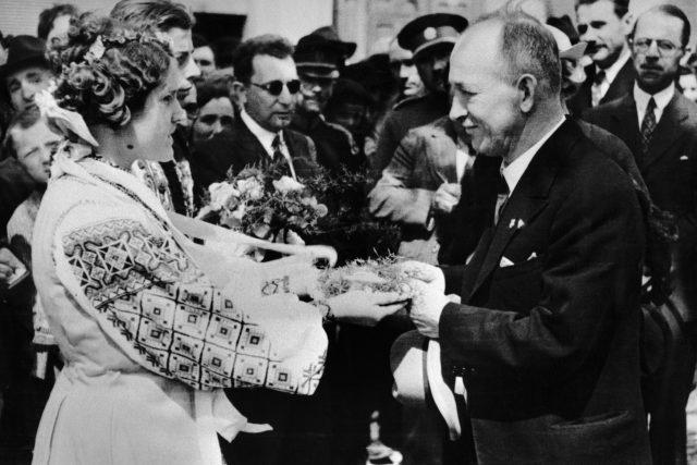 Edvard Beneš v květnu 1934 na Podkarpatské Rusi