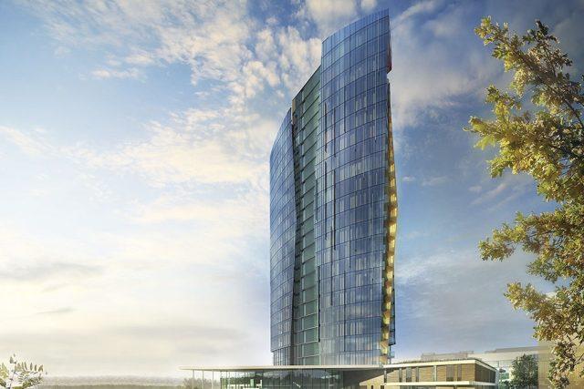 Vizualizace výškové budovy Šantovka Tower