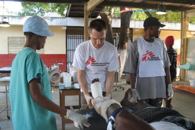 Jan Trachta na misi v Kongu