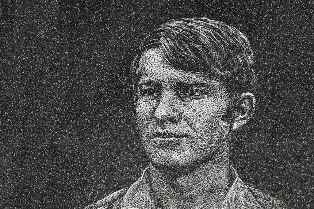 Jan Zajíc - portrét na pamětní desce