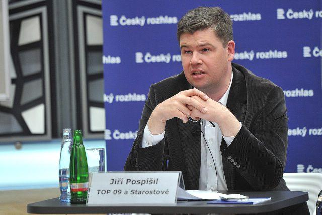 Předvolební speciál Radiožurnálu, Jiří Pospíšil z TOP 09 a Starostové