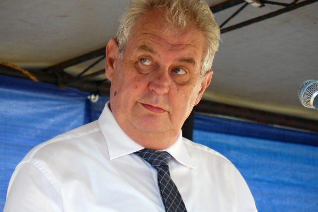 Miloš Zeman na setkání s občany