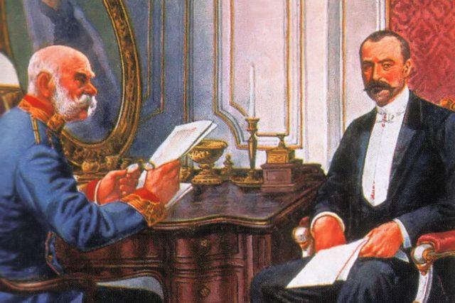 František Josef I. a uherský premiér István Tisza