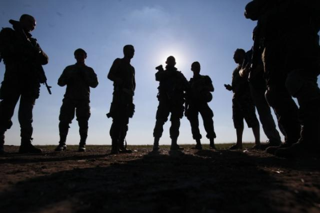 Ukrajinští vojáci u Luhansku