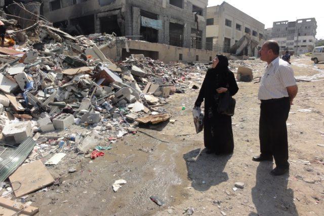 Palestina. Po konfliktu Izraele s Hamásem zůstaly v Pásmu Gazy desítky tisíc poškozených nebo zničených budov