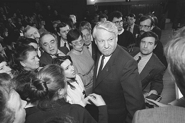 Boris Jelcin v roce 1989