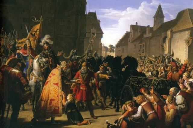 Anton Petter: Král Přemysl Otakar II. a Rudolf Habsburský