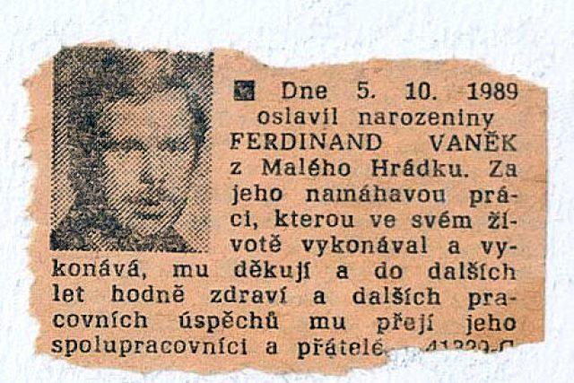 Přání Ferdinandu Vaňkovi z Rudého práva