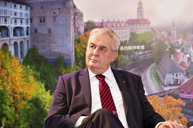 Prezident Miloš Zeman navštívil expozici České republiky na Západočínském mezinárodním veletrhu v Čcheng-tu,  hlavním městě čínské provincie S'-čchuan   foto: ČTK