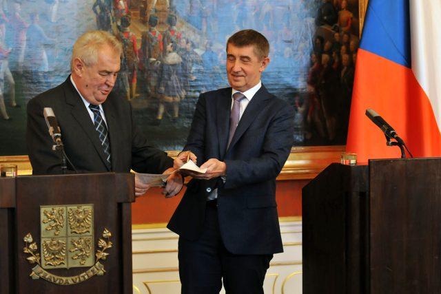 Miloš Zeman (vlevo) a Andrej Babiš