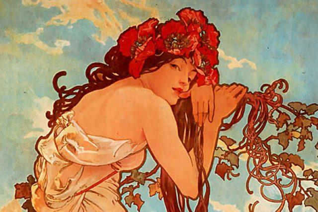 Alfons Mucha: Léto (1896)