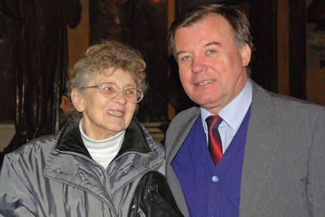 Jan Bednář s maminkou Otkou Bednářovou
