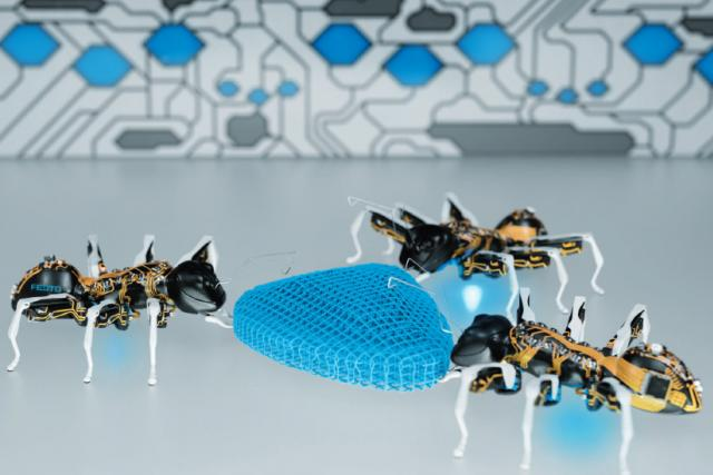 Bioničtí mravenci BionicANT (s) | foto:  Festo