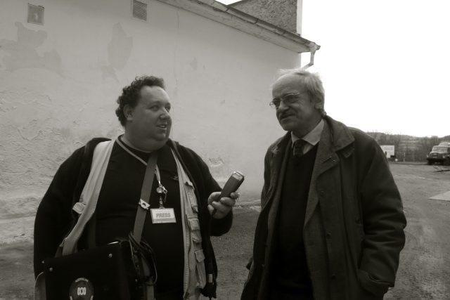Jaroslav Lobkowicz a Tomáš Černý při natáčení