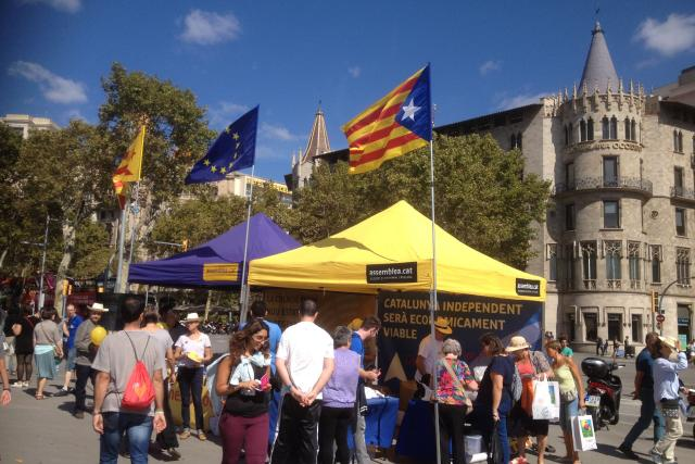 Katalánsko - stánek zastánců nezávislosti