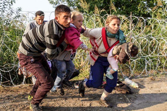 uprchlíci, migranti, maďarská hranice, imigranti, běženci