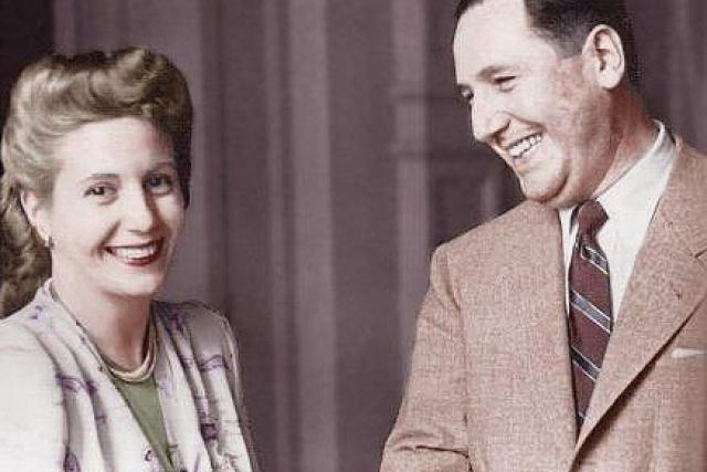 Evita a Juan Perón v roce 1950