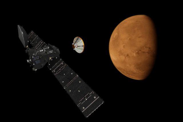 Modul Schiaparelli míří k Marsu