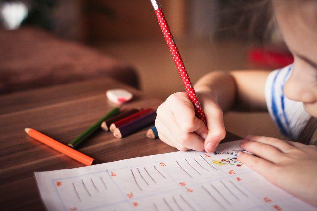 Dítě, škola, psaní