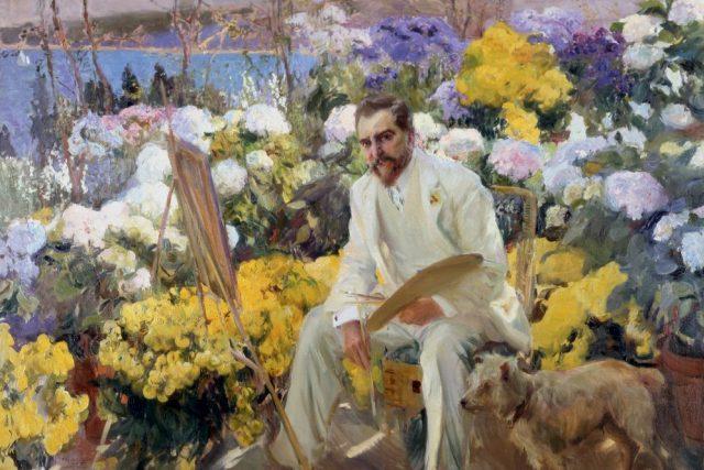Auguste Renoir Monet maluje ve své zahradě v Argenteuil, 1873. Jeden z mnoha obrazů, které se od 30. ledna představí v Royal Academy of Arts na výstavě Malování moderní zahrady: Od Moneta k Matisssovi
