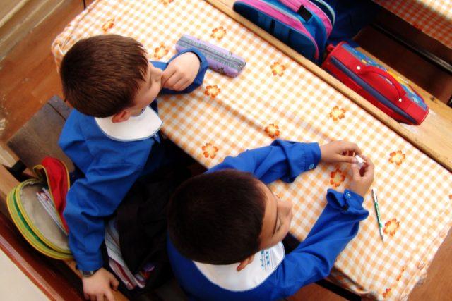 děti, škola, školní lavice, třída