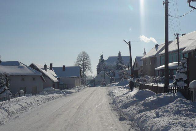 Pravá vysočinská zima v Trpíně