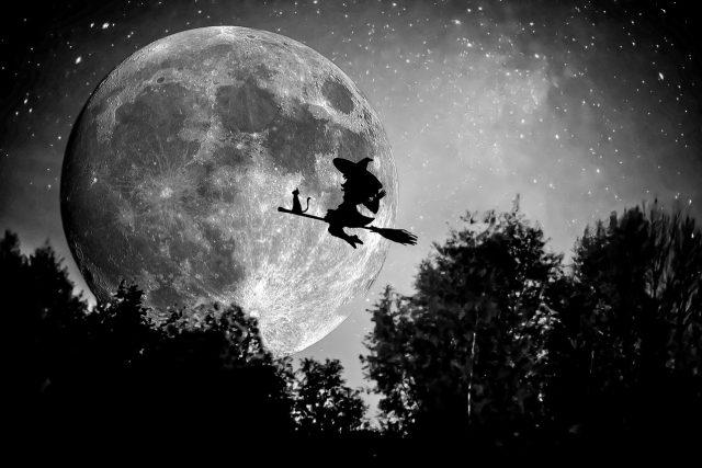 Čarodějnice, koště, čarodějka