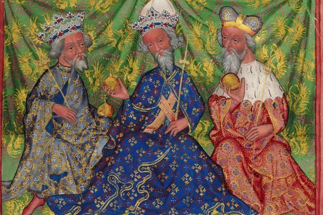 Václav IV., Karel IV. a Jošt Moravský, Národní galerie Praha