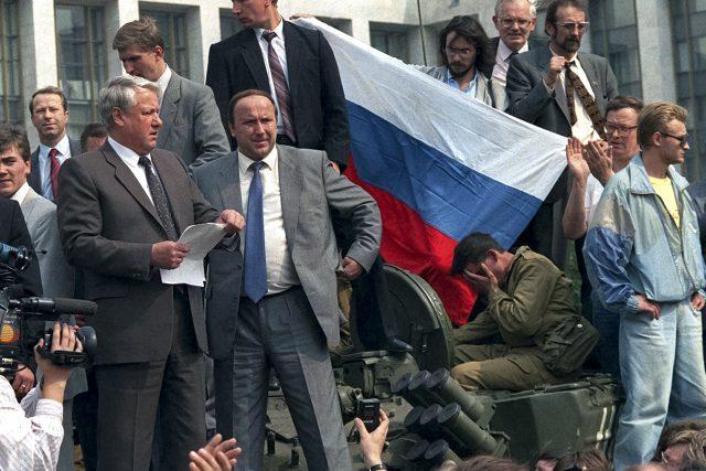 Před 25 lety se v tehdejším Sovětském svazu odehrál pokus o státní převrat   foto: ČTK