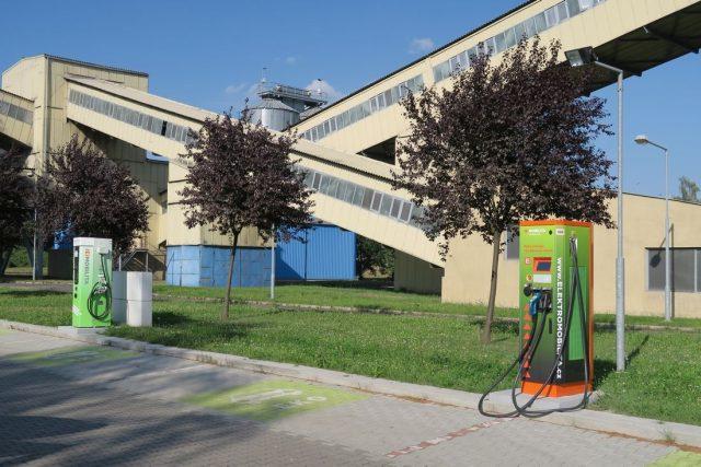 Dobíječka pro elektromobily v Trmicích