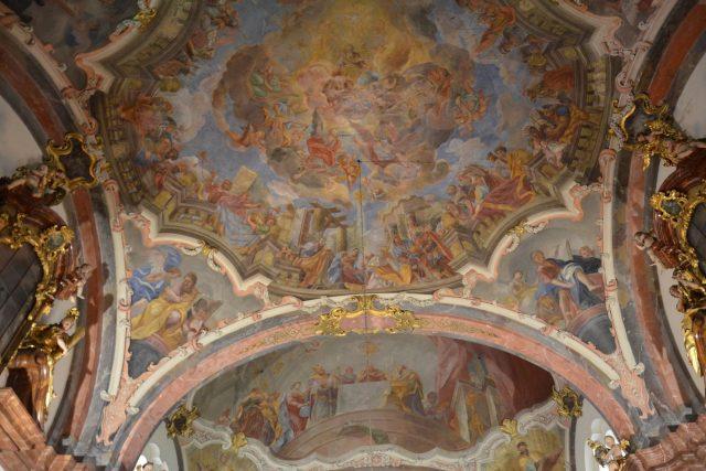 Strop kostela Narození Páně | foto: Jolana Nováková,  Český rozhlas