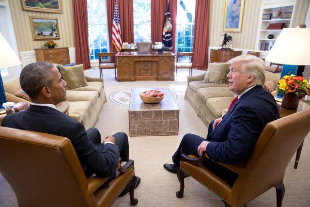 Dva dny po volbách se Obama sešel se svým čerstvě zvoleným nástupcem Donaldem Trumpem.