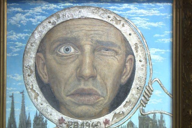 Vernisáž výstavy děl Pavla Brázdy a jeho manželky Věry Novákové v Egon Schiele Art Centru v Českém Krumlově