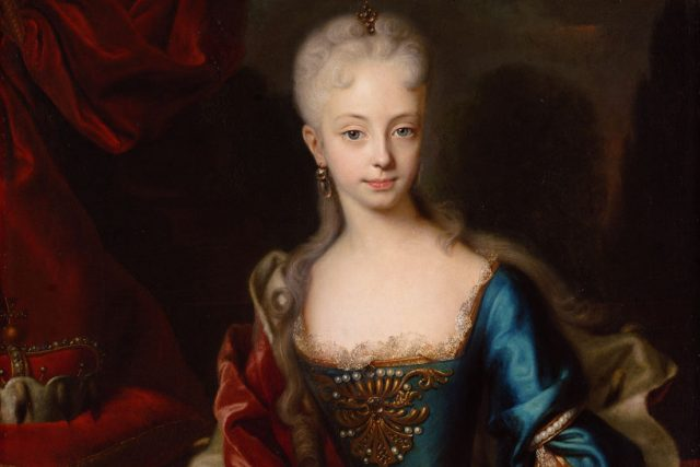 Andreas Moeller: Arcivévodkyně Marie Terezie ve věku jedenácti let